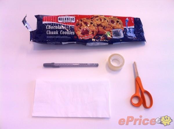 廢棄食物包裝袋     5 分鐘 DIY Smartphone 手寫筆