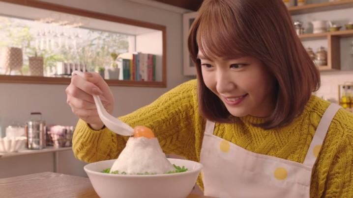 結衣 BB 教煮「富士山」雞仔即食麵