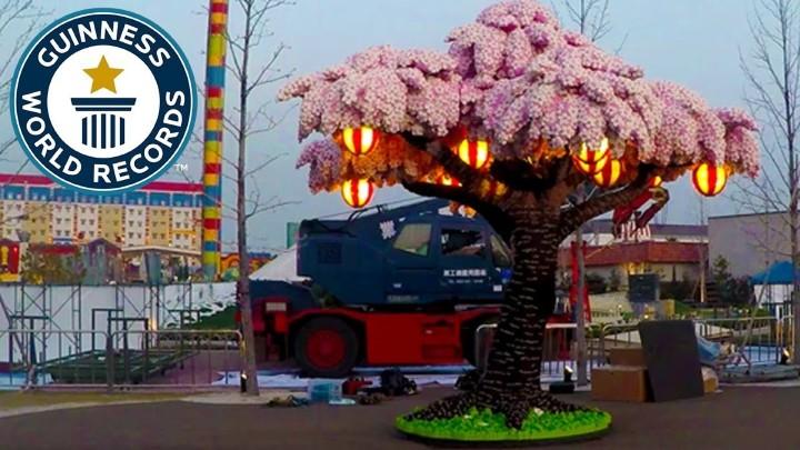 破紀錄!極震撼!用 LEGO 積木砌出漂亮櫻花樹