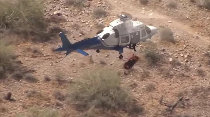 直升機救人遇氣流 老婦慘變爆旋陀螺