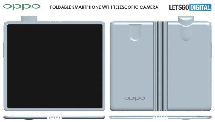 外摺式設計、搭彈出式相機設計,OPPO 可摺疊螢幕機外型設計曝光   - 2