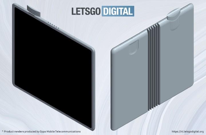 外摺式設計、搭彈出式相機設計,OPPO 可摺疊螢幕機外型設計曝光   - 3