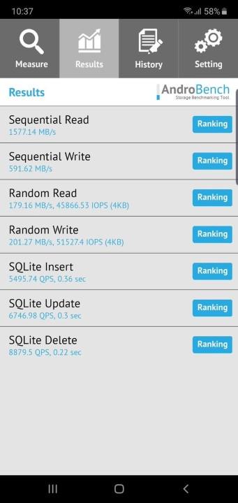 讀取速度超過 1,500MB/s!三星 Galaxy Note 10 UFS 3.0 性能測試 - 2