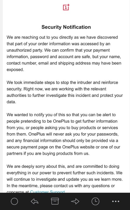 OnePlus 又出包,官網不小心外洩客戶姓名地址等個人資料 - 2