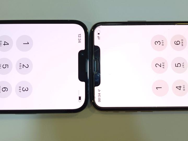 瀏海明顯是縮窄了,但是對手機整體視覺沒有太大影響