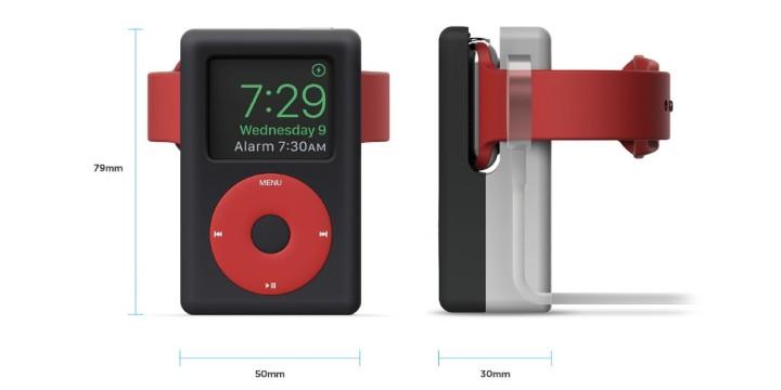 創意充電座,讓 Apple Watch 一秒變身成 iPod Calssic!