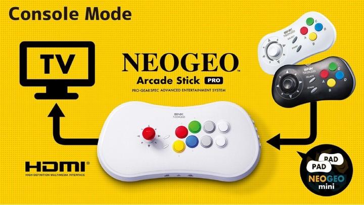 直接內建 20 款經典遊戲!SNK 推大型電玩機台造型搖桿 NEOGEO Arcade Stick Pro