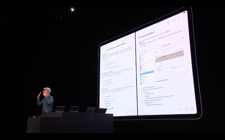 分割畫面,可以在兩個視窗使用同一App