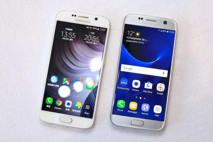 Samsung Galaxy S7 與 S6 外型與規格比較!
