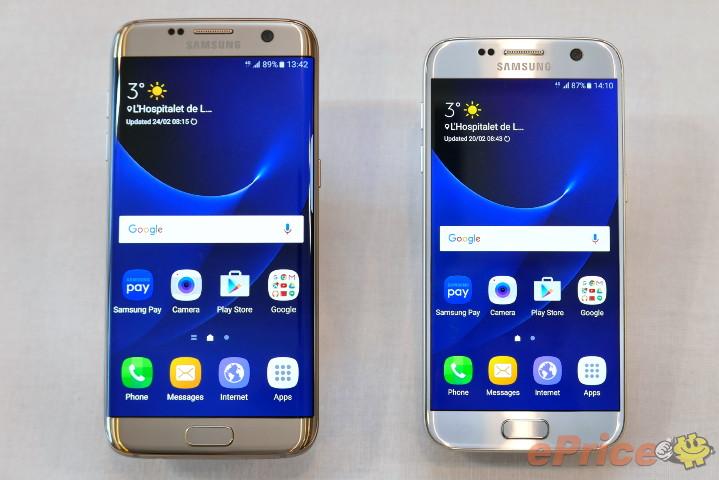美型雙旗艦:Samsung Galaxy S7、S7 Edge 實機直擊與外型比較